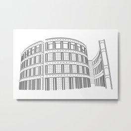 TypeCity: Vancouver Public Library Metal Print