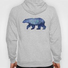 Blue Galaxy Forest Bear Silhouette Hoody