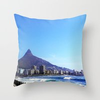 south africa Throw Pillows featuring South Africa Impression 6 by Art-Motiva
