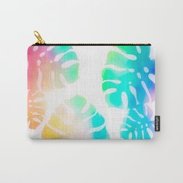Prismatic Monstera Leaves Carry-All Pouch