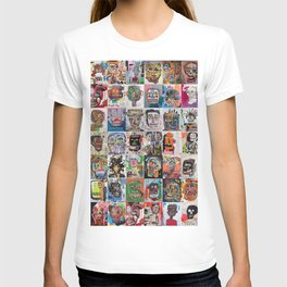 Basquiat Faces Montage T-shirt