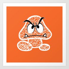 Goomba #CrackedOutBadGuys Art Print