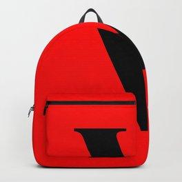 V MONOGRAM (BLACK & RED) Backpack