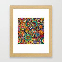 Funky Retro Pattern Framed Art Print