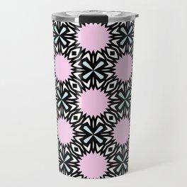 Geometric Pattern - Pink & Light Blue Travel Mug