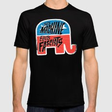 This Machine Elects Fascists 2X-LARGE Black Mens Fitted Tee