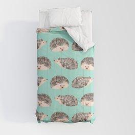 Hedgehog Turquoise Comforters