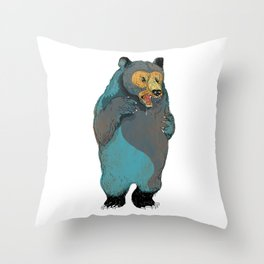 Mr.Grizzly Throw Pillow