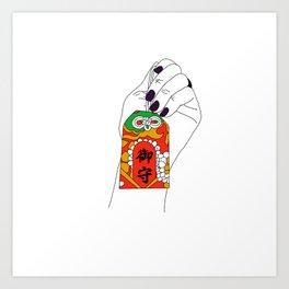 Magnus Omamori Charm Art Print