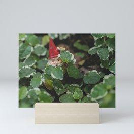 Peek-a-boo Gnome Mini Art Print