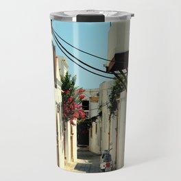 Street in Lindos Travel Mug
