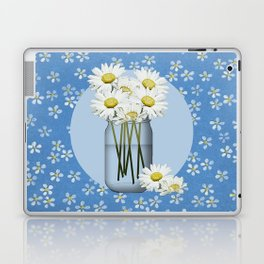 White Daisies Laptop & iPad Skin