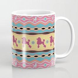 Poodle -Fun Colorful Pattern in pastels Coffee Mug