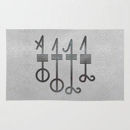 Svefnthorn symbol - metallic texture Rug
