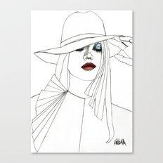 Blue Eyeshadow Canvas Print
