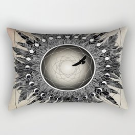 Crow Twilight Dreamcatcher Rectangular Pillow