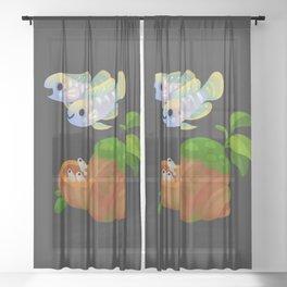 Shell Dwellers Sheer Curtain