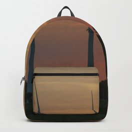 Windräder im Sonnenuntergang Horumersiel Backpack