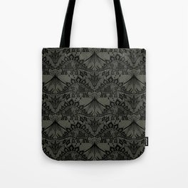 Stegosaurus Lace - Black / Grey - Tote Bag