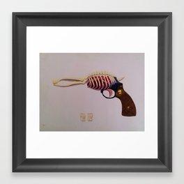 Anatomy Gun Framed Art Print