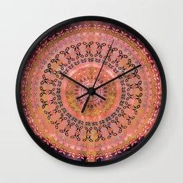 Mango Mandala Wall Clock