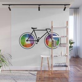 Geometric Bicycle Wall Mural