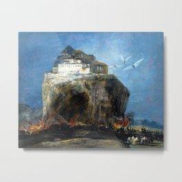 Eugenio Lucas Velázquez City on a Rock Metal Print