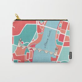Prague Minimal Map Carry-All Pouch