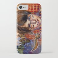 quidditch iPhone & iPod Cases featuring Harry's First Quidditch Match by S.G. DeCarlo
