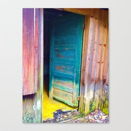 Door to a Colorful Past by Smokies Art Canvas Print