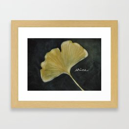 Ginkgo - Shine! Framed Art Print