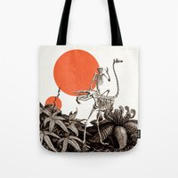 death Tote Bags featuring Death by Dorian Danielsen