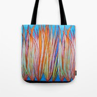 grass Tote Bags featuring Grass by Brontosaurus