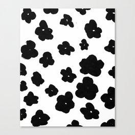 Black Flowers Canvas Print