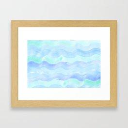 water color waves Framed Art Print