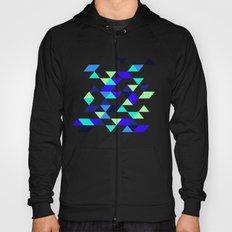 Geometric Blue Polygons Hoody