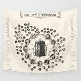 Doctor Who Companions poster Wall Tapestry