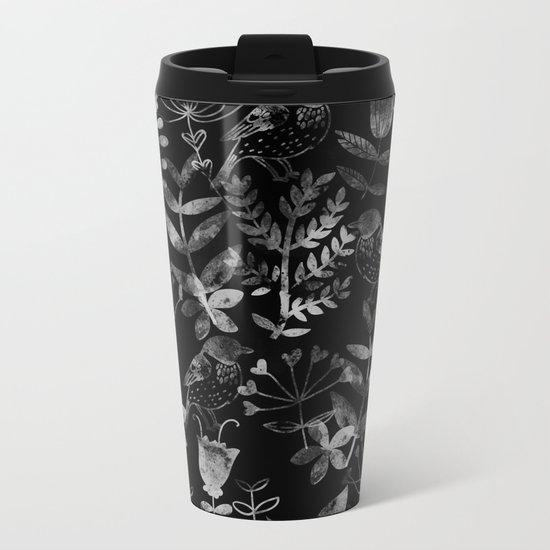 Abstract Botanical Garden V Metal Travel Mug