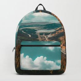 High Above // Teal Blue Sky Autumn Fall Color Woodlands in Colorado Backpack