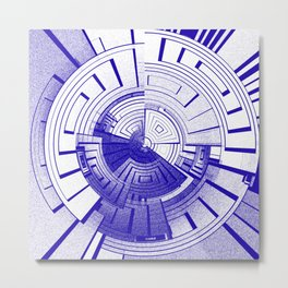 Futuristic abstract Metal Print