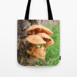 Knitted Velvet Foot Fungi Tote Bag