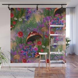 Fantasy Mushroom Forest Wall Mural
