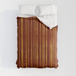 Golden and Terracotta Color Stripes Pattern Comforters