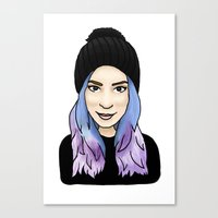gemma Canvas Prints featuring Gemma by hannahbee