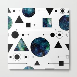 Galaxy Geometric Pattern 36 Metal Print