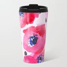 Pink Poppies Travel Mug