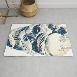 The Great Wave Off Skull Japanese Style Rug