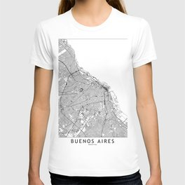 Buenos Aires White Map T-shirt