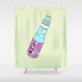 Kawaii Blueberry Soda Drink Shower Curtain
