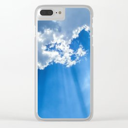 Silver lining cloud Clear iPhone Case